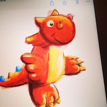 Illustration sur iPad